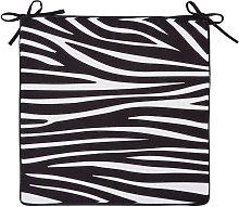 Cuscino da sedia da esterno motivi zebrati bianchi