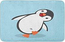 Cute Penguin Cartoon In Flat Styledeer Inverno