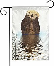 Cute Sea Otter out Water Animal Garden Bandiere