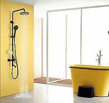 CY Nero miscelatore doccia Copper Rain Shower -