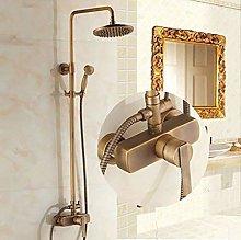 CY Set doccia dorato antico pioggia d'ottone