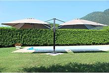 DA VINCI - ombrellone doppio da giardino 3 X 3