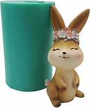 DAKIFENEY Stampo in silicone 3D coniglietto