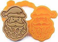 DAKIFENEY Stampo per biscotti a forma di Babbo