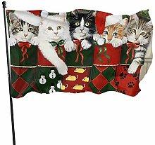 Dandiera Calze natalizie Cat Christmas Funny