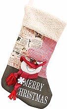 DANSHEN Calza natalizia, calze di Natale per