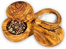 Darido Scatola per spezie in legno d'ulivo -