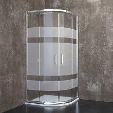Davos - Box doccia semicircolare 80x80x185 cm