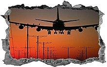 DDSY Aereo, aereo, adesivo, decalcomania, aereo,