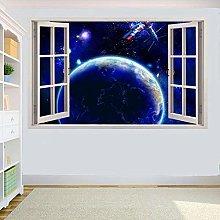 DDSY BLUE EARTH SPACE SATELLITE 3D Window ADESIVO