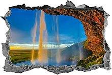 DDSY cascata, adesivo, fiume, arte della parete,