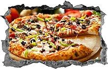 DDSY Pizza, adesivo, pizzeria, arte della parete,