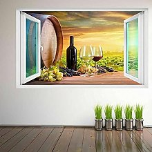 DDSY Vineyard Grapes Wine Glass Wall Art Sticker