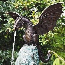 DealMux 1 pezzo statua drago fontana decorazione