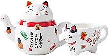 DealMux 2 pezzi carino giapponese gatto felice