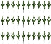 DealMux 30PCS Rami di pino artificiale Aghi Piante