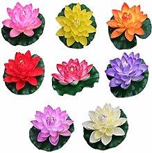 DealMux 8 pezzi di ninfea artificiale di loto per