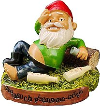DealMux Garden Gnome Statue Resina Nano Figurine