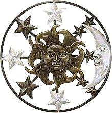 DealMux Hanging Wall Decoration Sun Moon Metal Art