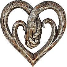 DealMux Heart Hands Decorazione da parete, Statue
