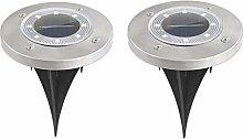 DealMux Lampada da terra a LED solare Lampada da