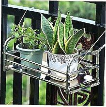 DealMux Mensola per ringhiera per vaso di fiori,