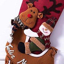 DealMux Merry Christmas Calze Decor, Decorazioni