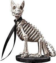 DealMux Nordic Creativo Retro Skull Dog Scultura