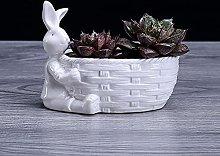 DealMux Porcellana Figura Coniglio Figurine Piante