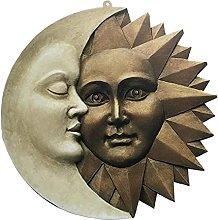 DealMux Sun Moon Plaque Hanging Vintage Art