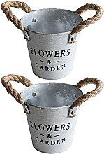 DealMux vaso di fiori, metallo, rotondo, con