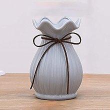 DealMux vaso moderno in ceramica, bianco/blu,