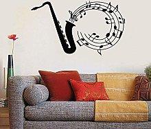Decalcomania Da Muro Jazz Tuning Note Musica