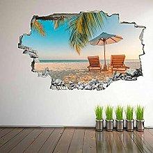 Decalcomania murale esotica spiaggia tropicale con