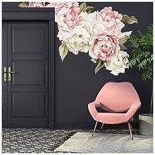 Decalcomanie da muro di muro di peonie floreali,