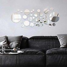 decalmile 32 Pezzi Adesivo Murale Specchio