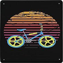 DECISAIYA Poster Targhe in Metallo BMX retrò