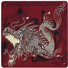 DECISAIYA Poster Targhe in Metallo Tatuaggio di