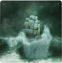 DECISAIYA Poster Targhe in Metallo Tempesta