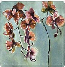 DECISAIYA Targhe in Metallo,Orchidee Fiori Pittura
