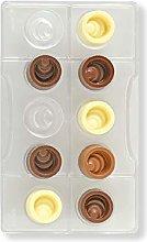 Decora 0050124 Stampo Cioccolatino Tondo Scalare