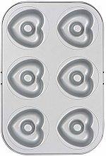 Decora 0070037 Stampo 6 Ciambelle Cuore Ø 7,5 Cm