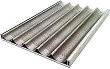 Decora 5548126 Teglia Baguette, Alluminio, Argento