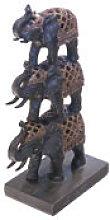 Decorazione a elefante, da 15X29 cm. nero
