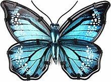 Decorazione A Parete Farfalla Blu Metallica per La