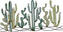 Decorazione da parete cactus in metallo, 136x68 cm