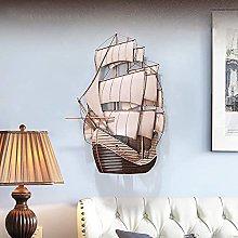 Decorazione da Parete Nave Barca a Vela in Metallo