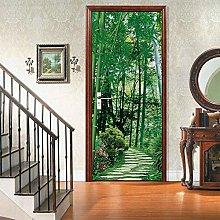 Decorazione Da Parete Per Porta Foresta Di Bambù