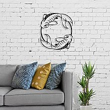 Decorazione da parete pesce in metallo, scultura