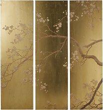 Decorazione da parete trittico dorato stampa